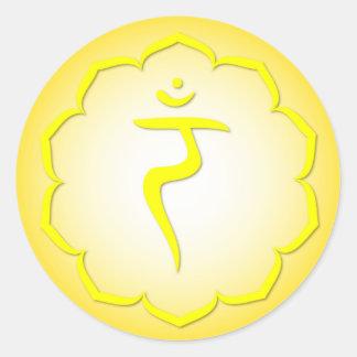 3rd Chakra - Manipura Round Sticker