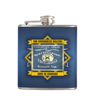 3rd Confederate Infantry Hip Flask