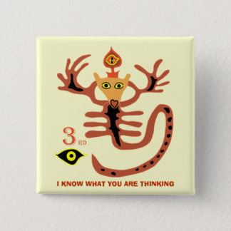 3rd eye I KNOW WHAT YOU ARE THINKING 15 Cm Square Badge