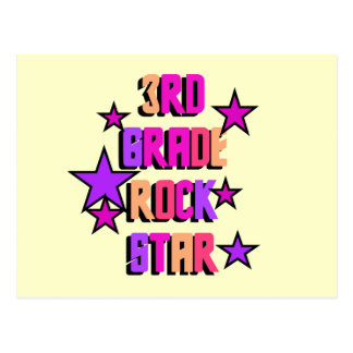 3rd Grade Rock Star Tshirts and Gifts Postcard