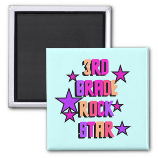 3rd Grade Rock Star Tshirts and Gifts Square Magnet