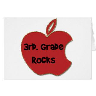 3rd. Grade Rocks Greeting Card