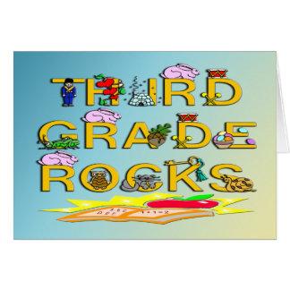 3rd Grade Rocks Greeting Card