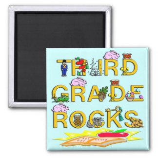 3rd Grade Rocks Fridge Magnets