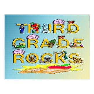 3rd Grade Rocks Postcard