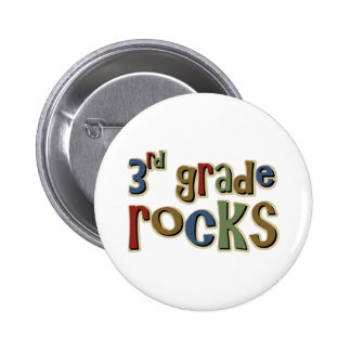 3rd Grade Rocks Third 6 Cm Round Badge