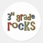 3rd Grade Rocks Third Round Sticker
