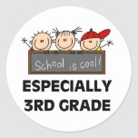 3rd Grade School is Cool Round Sticker
