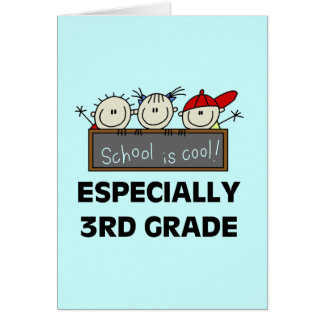 3rd Grade School is Cool Tshirts and Gifts Greeting Card