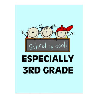3rd Grade School is Cool Tshirts and Gifts Postcard