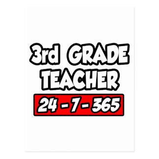 3rd Grade Teacher 24-7-365 Postcard