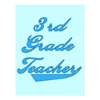 3rd Grade Teacher Blue Tshirts and Gifts Postcard