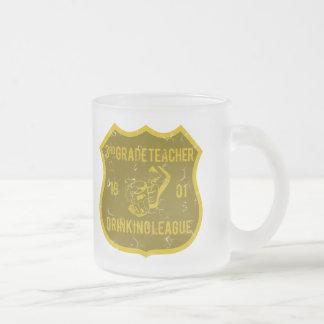 3rd Grade Teacher Drinking League Frosted Glass Mug