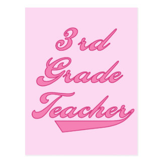 3rd Grade Teacher Pink Tshirts and Gifts Postcard