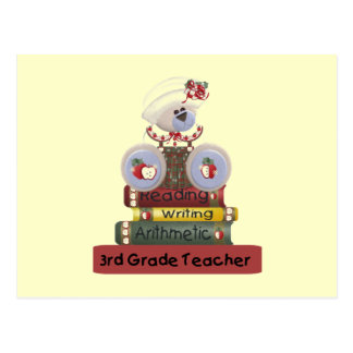 3rd Grade Teacher Tshirts and Gifts Postcard