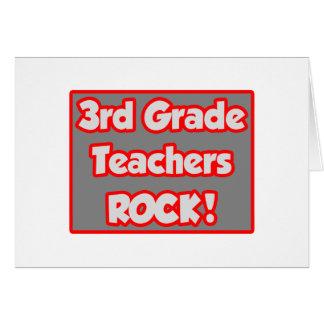 3rd Grade Teachers Rock! Greeting Cards
