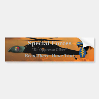 3rd group special forces veterans vets SF SFG Bumper Sticker