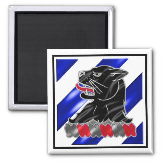 3rd ID 11th Engineer Battalion Square Magnet