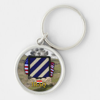 3rd infantry division iraq war veterans vets Silver-Colored round key ring