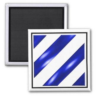 3rd Infantry Division Square Magnet