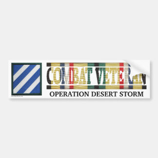 3rd Infantry Division SWA Combat Veteran Sticker Bumper Stickers