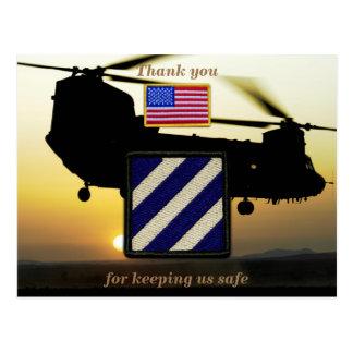 3rd infantry Fort Stewart veterans vets patch Postcard