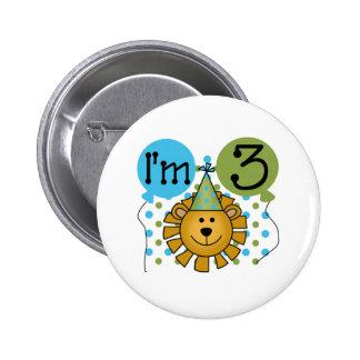 3rd Lion Birthday 6 Cm Round Badge