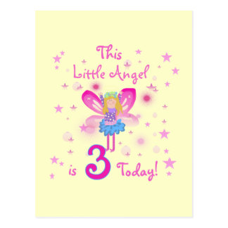 3rd Little Angel Birthday Tshirts and Gifts Postcard