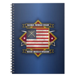 3rd Michigan Cavalry Spiral Note Book