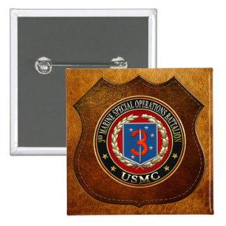 3rd MSOB [3D] 15 Cm Square Badge
