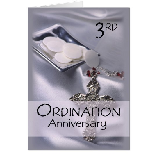 3rd Ordination Anniversary Congratulations Card