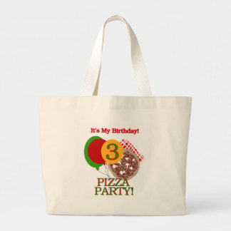 3rd Pizza Party Birthday Jumbo Tote Bag