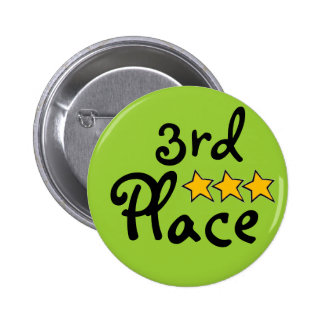 3rd Place 6 Cm Round Badge