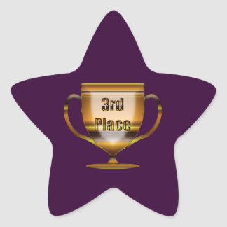 3rd Place Trophy Star Sticker