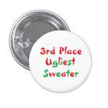 """3rd Place"" Ugliest Sweater Award Button"
