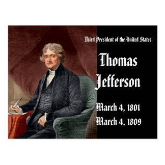 3rd President Of the United StatesThomas Jefferson Postcard