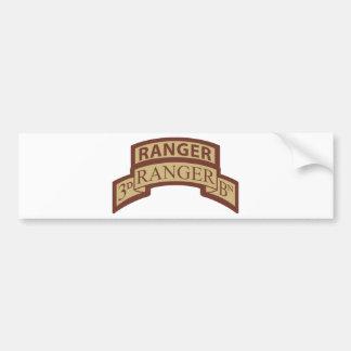 3rd Ranger Bn, Ranger Tab, Desert Bumper Sticker
