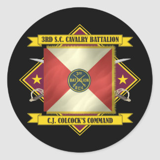 3rd SC Volunteer Cavalry Battalion Classic Round Sticker