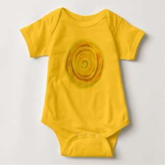 3rd-solar plexus chakra#2 yellow artwork baby bodysuit