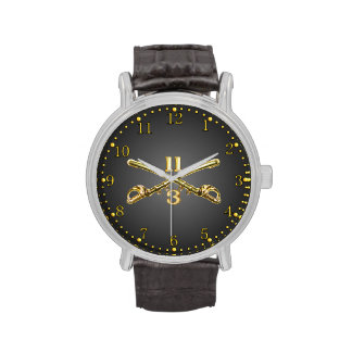3rd Sqdn. 11th ACR Brass Crossed Sabers Watch