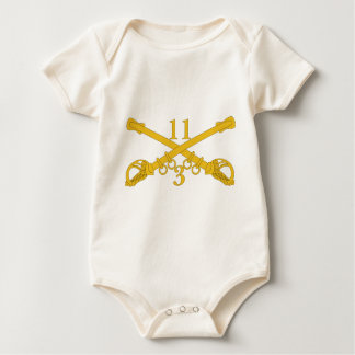 3rd Troop 11th Cavalry Regiment Baby Bodysuit