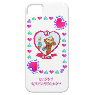 3rd wedding anniversary, leather case for the iPhone 5