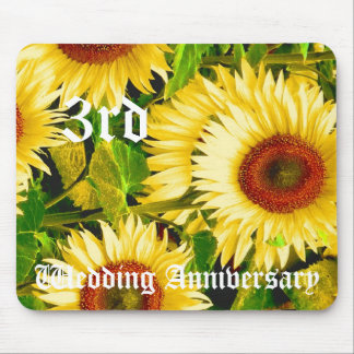 3rd wedding anniversary - Sunflower Mouse Mat