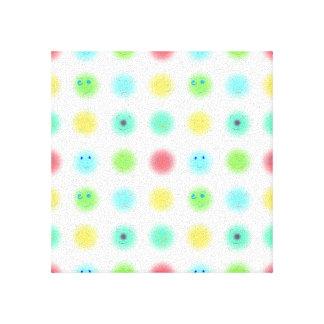 3x3 Little Faces A1 Stretched Canvas Prints