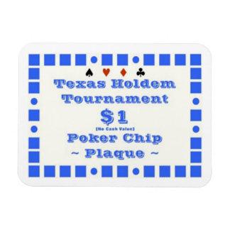 3x4 Texas Holdem Poker Chip Plaque 1 Magnet