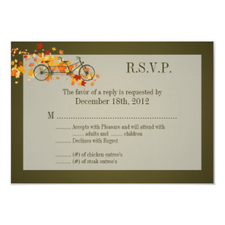 3x5 R.S.V.P. Reply Card Brown Double Bike 9 Cm X 13 Cm Invitation Card