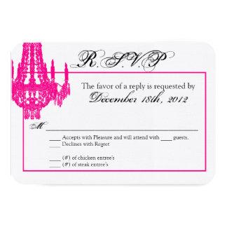 3x5 R.S.V.P. Reply Card Crystal Chandelier Glitz 9 Cm X 13 Cm Invitation Card