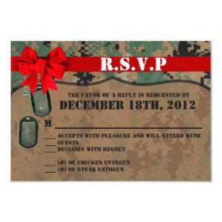 3x5 R.S.V.P. Reply Card Marine Corps DIGITAL PRINT 9 Cm X 13 Cm Invitation Card