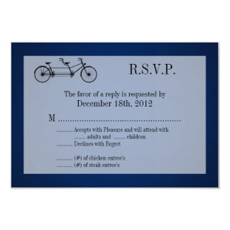 3x5 R.S.V.P. Reply Card Navy Blue Double Bike 9 Cm X 13 Cm Invitation Card