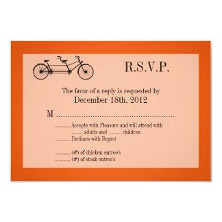 3x5 R.S.V.P. Reply Card Orange Double Bike 9 Cm X 13 Cm Invitation Card